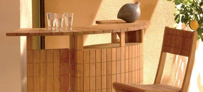 Mobilier exterieur de jardin Salon de jardin bar lumineux versailles